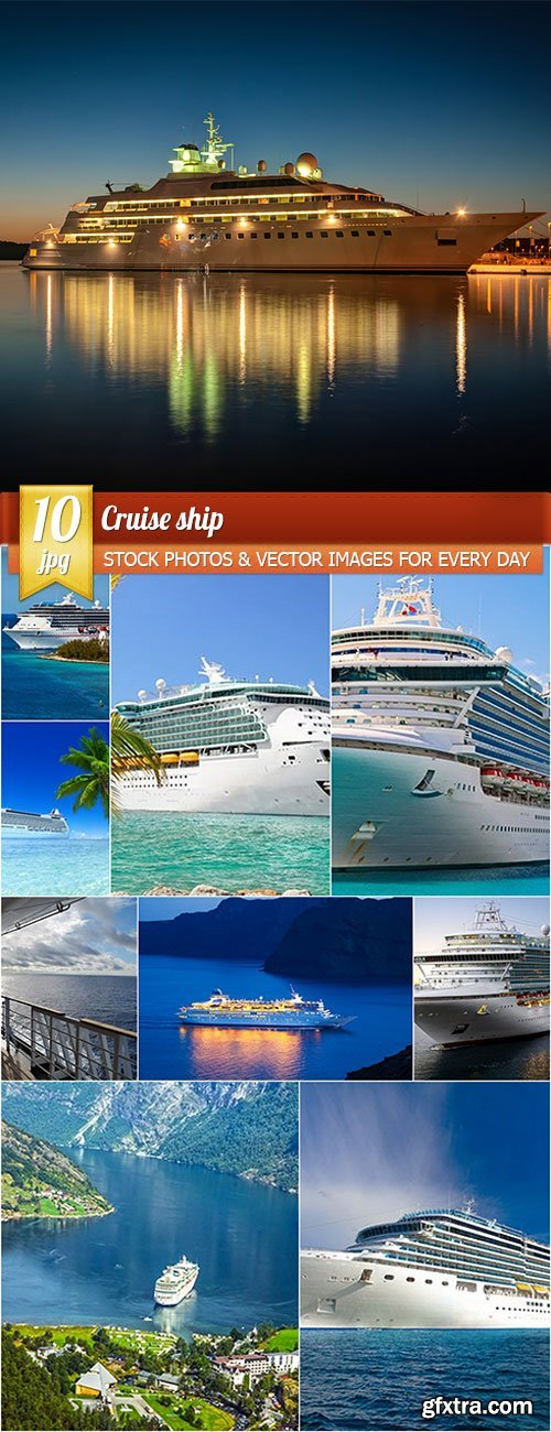 Cruise ship, 10 x UHQ JPEG