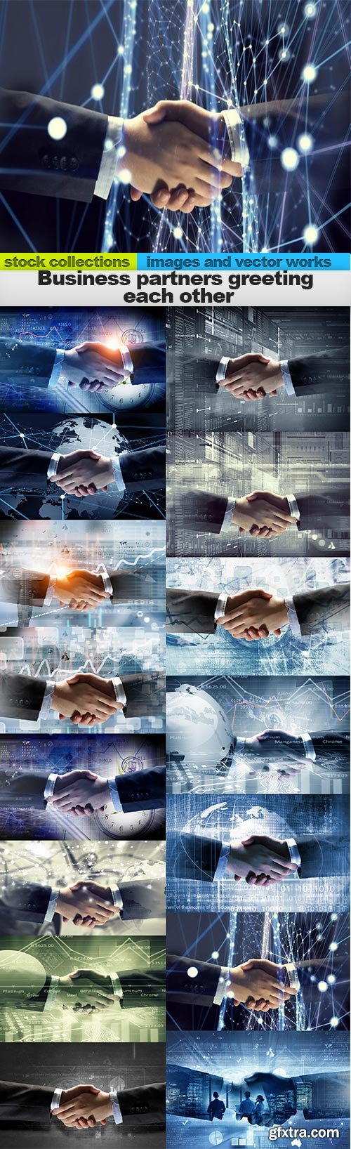Business partners greeting each other, 15 x UHQ JPEG