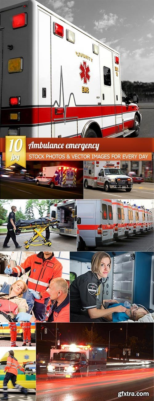 Ambulance emergency, 10 x UHQ JPEG