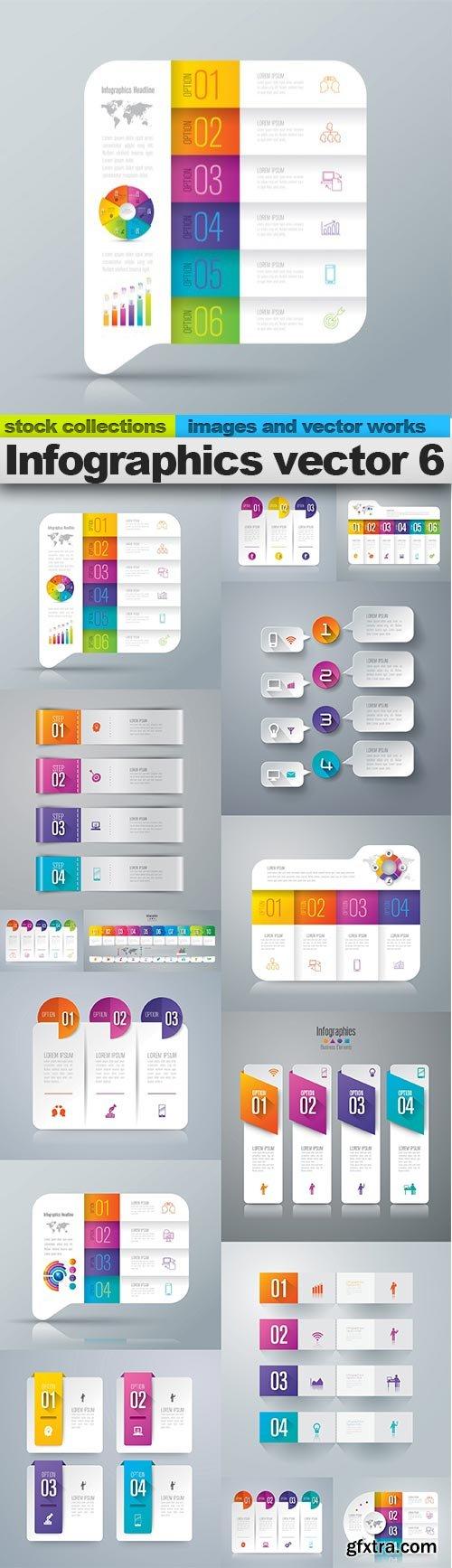 Infographics vector 6, 15 X EPS