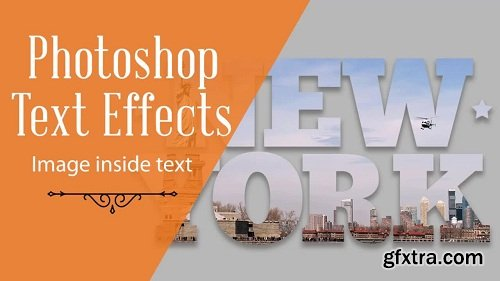 Photoshop Text Effects: How to put image inside text