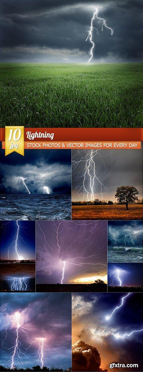Lightning, 10 x UHQ JPEG