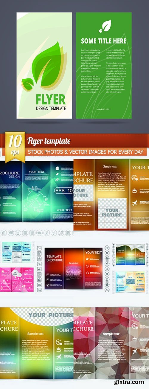 Flyer template, 10 x EPS