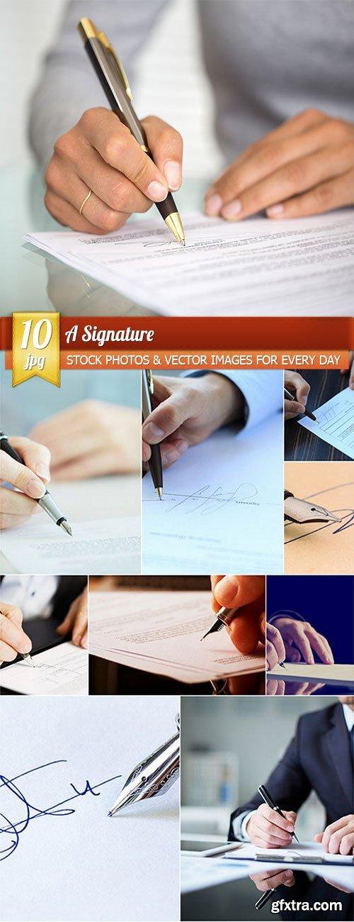 A Signature, 10 x UHQ JPEG