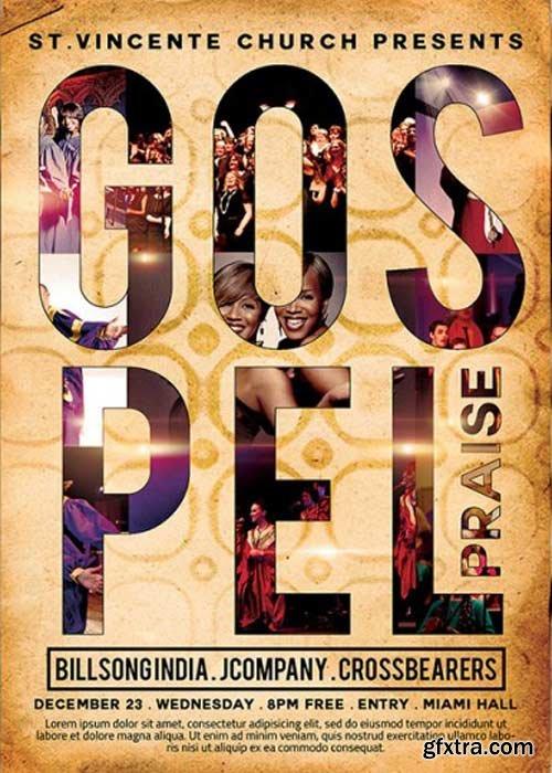 Gospel Praise V3 Premium Flyer Template + Facebook Cover