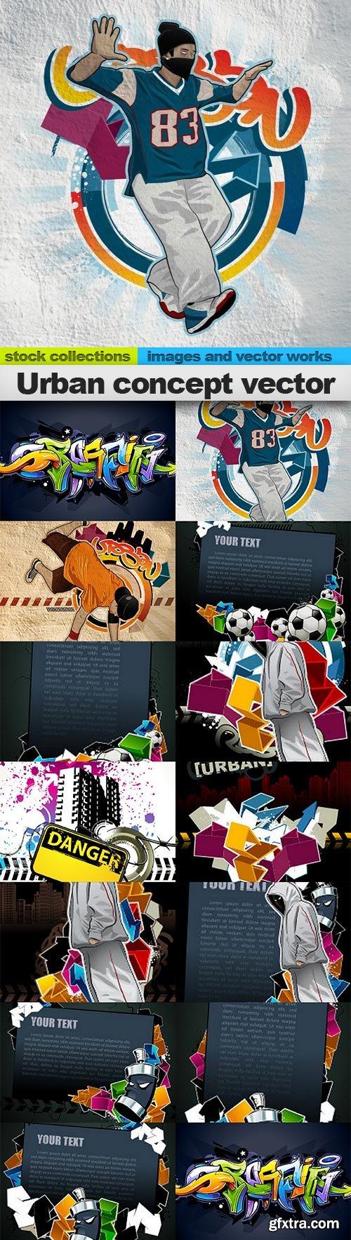 Urban concept vector, 16 x EPS
