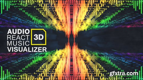 Videohive Audio React Music Visualizer 3D 16887647