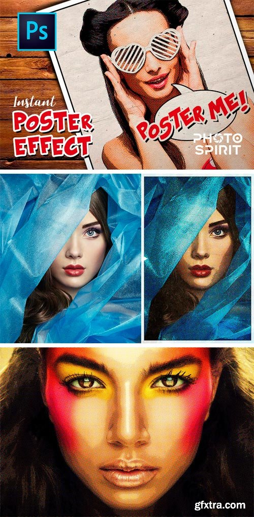 CM 1455370 - Instant Poster Effect PSD Template