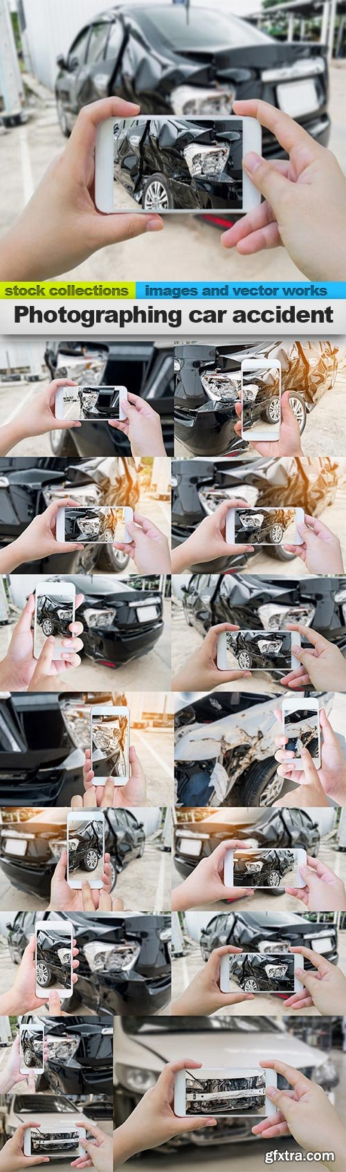 Photographing car accident, 15 x UHQ JPEG