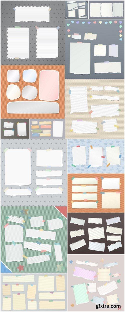 White ripped notebook, sheets 15X JPEG