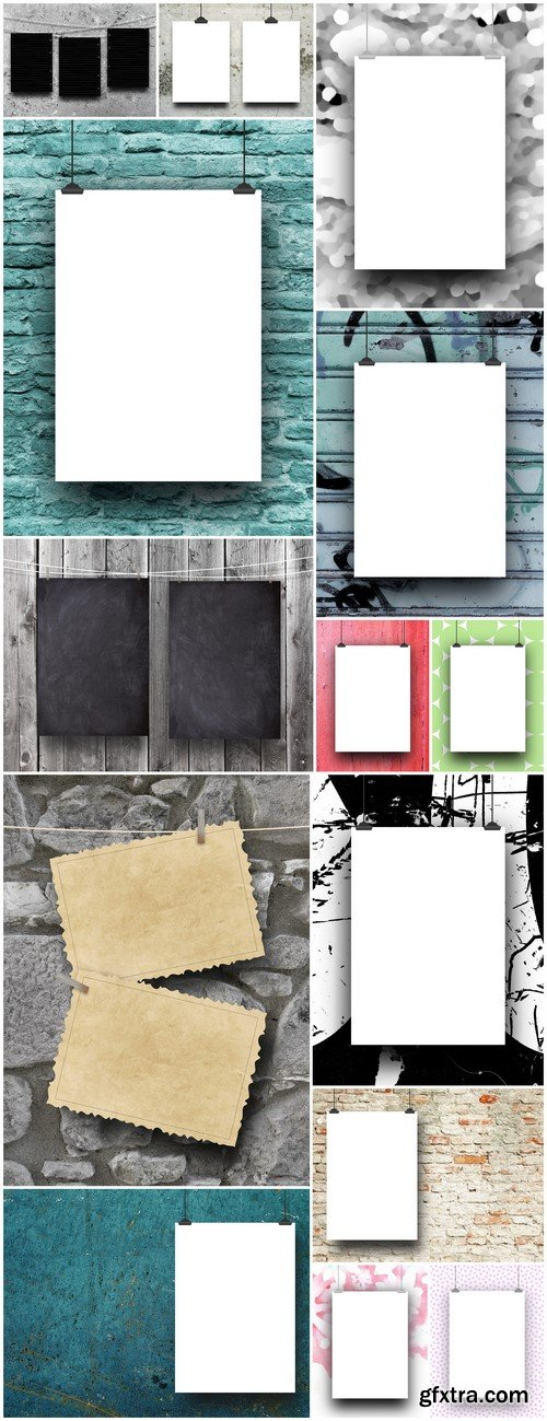 Blank frame against abstract art background 14X JPEG