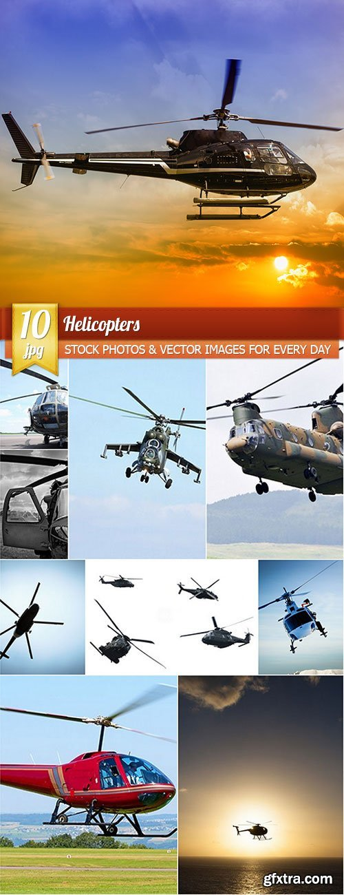 Helicopters, 10 x UHQ JPEG