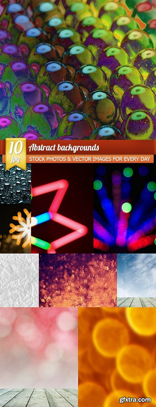 Abstract backgrounds, 10 x UHQ JPEG