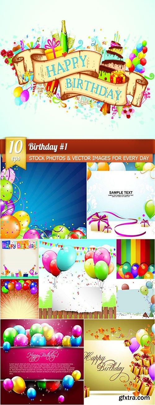 Birthday 1, 10 x EPS
