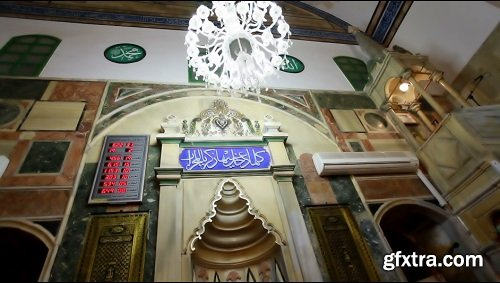 Mosque interior ceiling and lighting 4