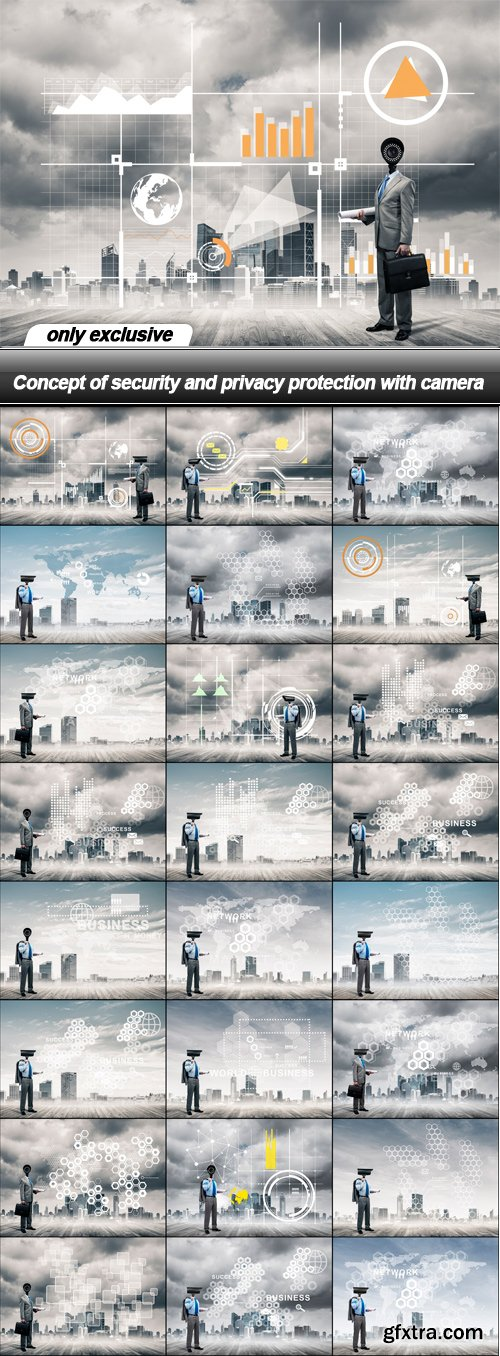 Concept of security and privacy protection with camera - 25 UHQ JPEG
