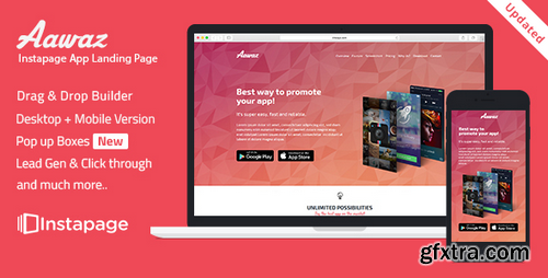 ThemeForest - Aawaz v.1.0 - Instapage App Landing Page Template -  16466971