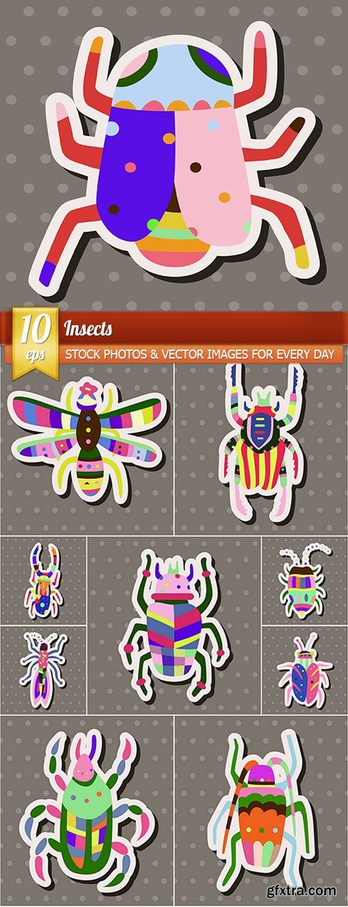 Insects, 10 x EPS