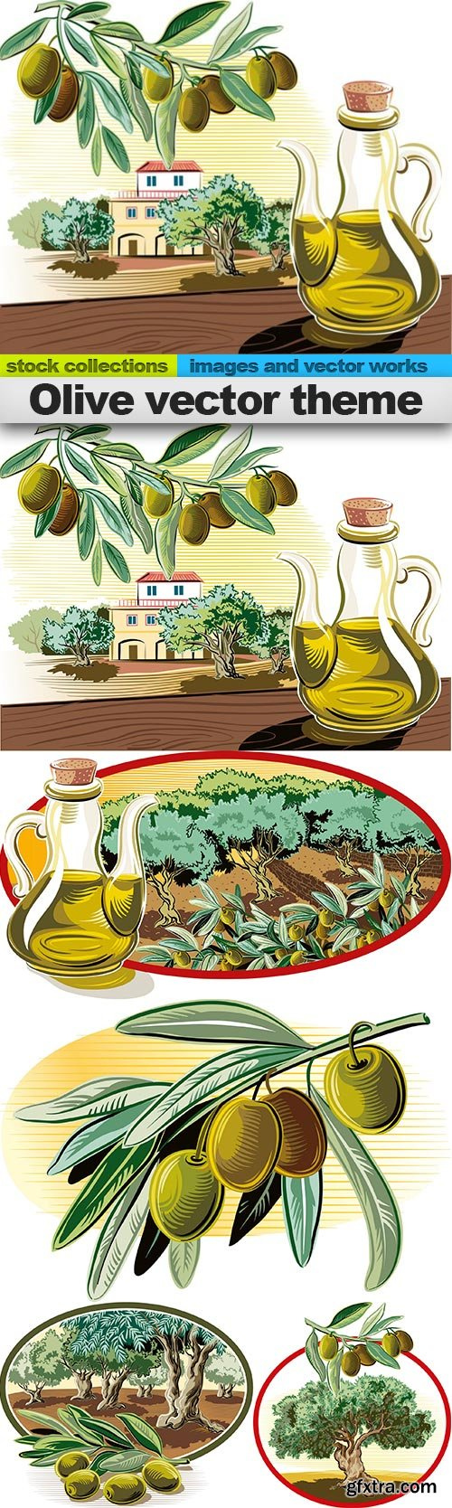 Olive vector theme, 05 x EPS