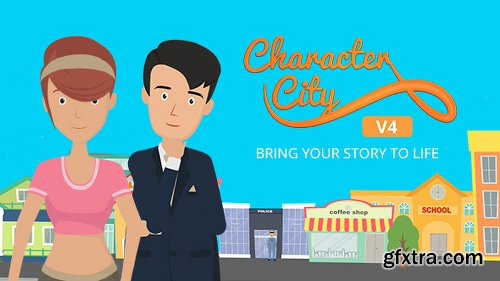 Videohive Explainer Video ToolKit : Character City V4 14778428