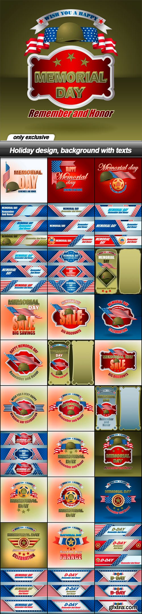 Holiday design, background with texts - 30 EPS