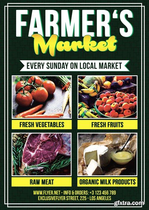 Farmers Market - Premium A5 Flyer Template