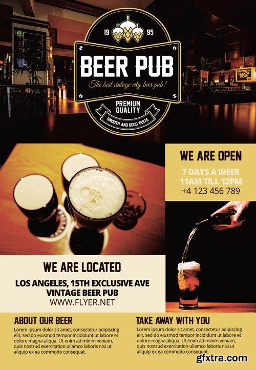 Beer Pub - Premium A5 Flyer Template