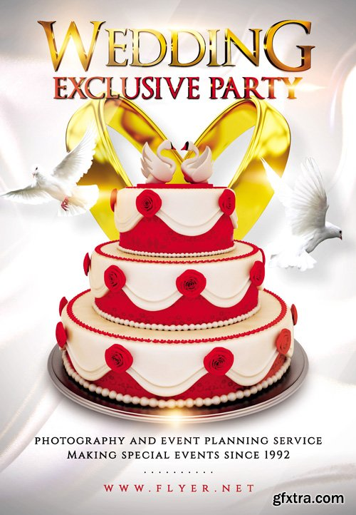 Exclusive Wedding Party - Premium A5 Flyer Template