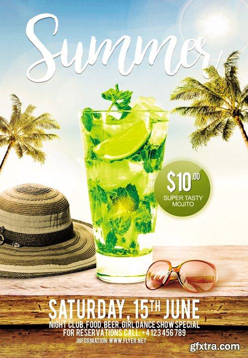 Summer - Premium A5 Flyer Template