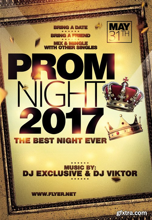 Prom Night - Premium A5 Flyer Template