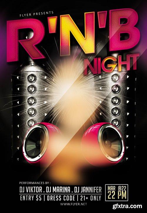 RNB Night - Premium A5 Flyer Template