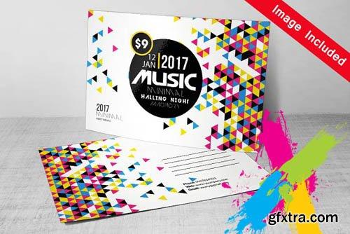 CM - Futuristic Music Postcard Template 1571900