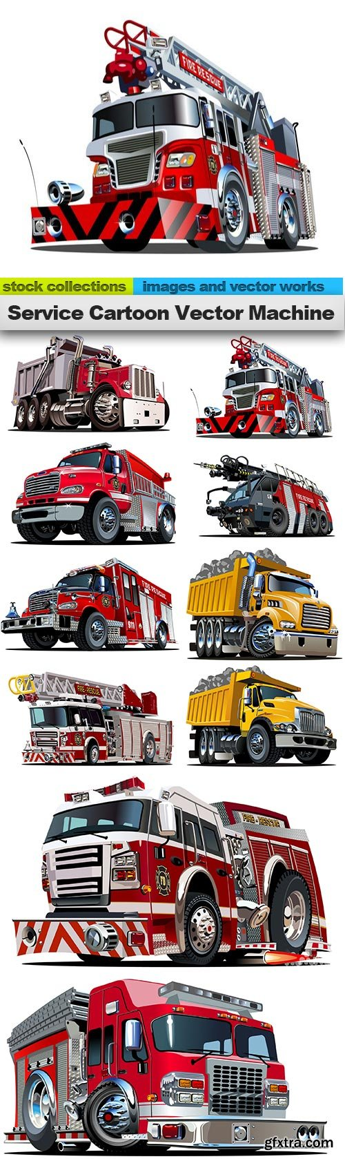 Service Cartoon Vector Machine, 10 x EPS