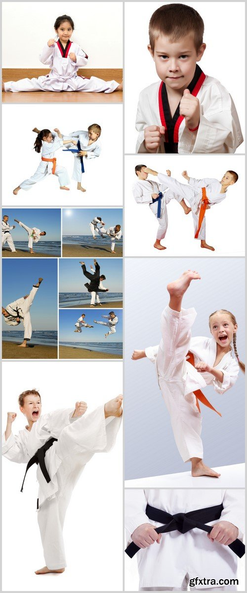 Young training karate 8X JPEG