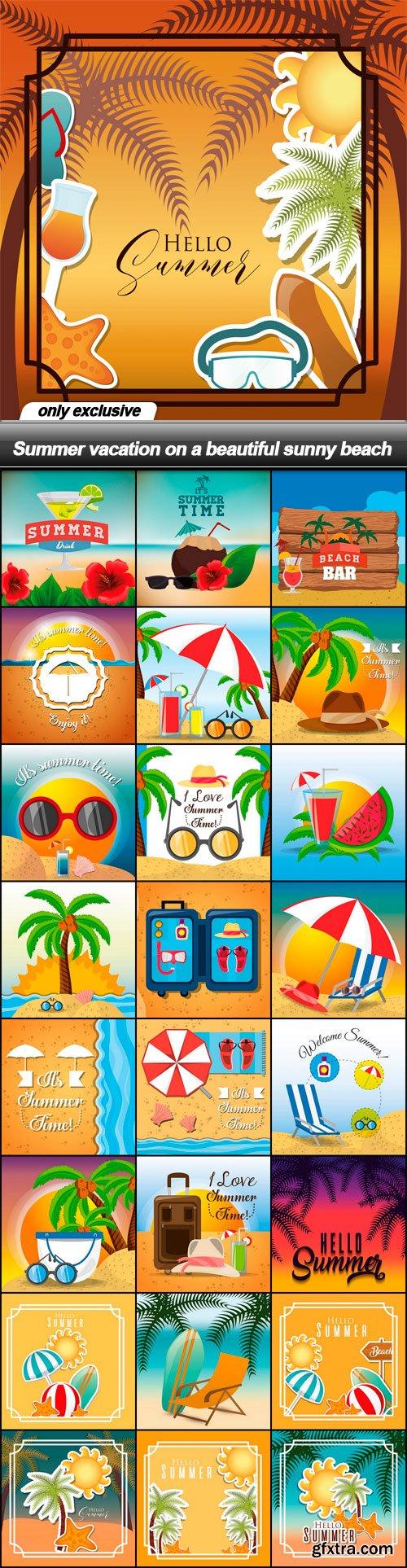 Summer vacation on a beautiful sunny beach - 25 EPS