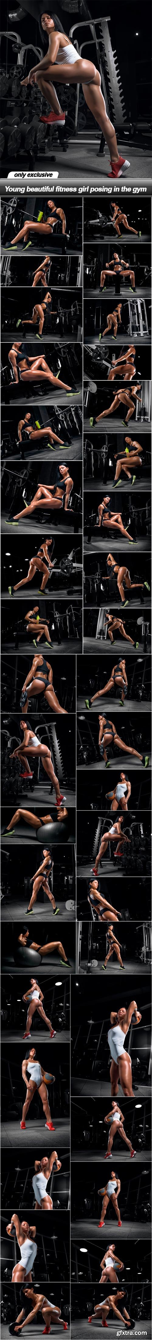 Young beautiful fitness girl posing in the gym - 38 UHQ JPEG