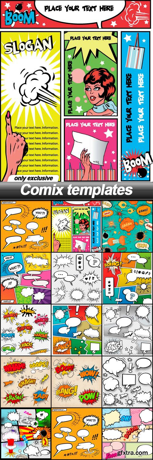 Comix templates - 14 EPS