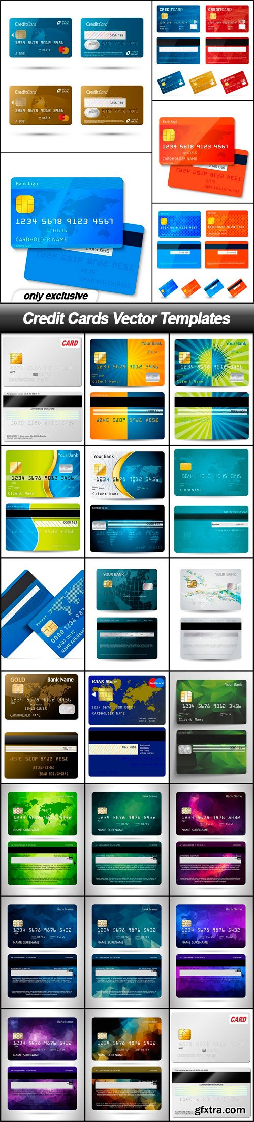 Credit Cards Vector Templates - 25 EPS
