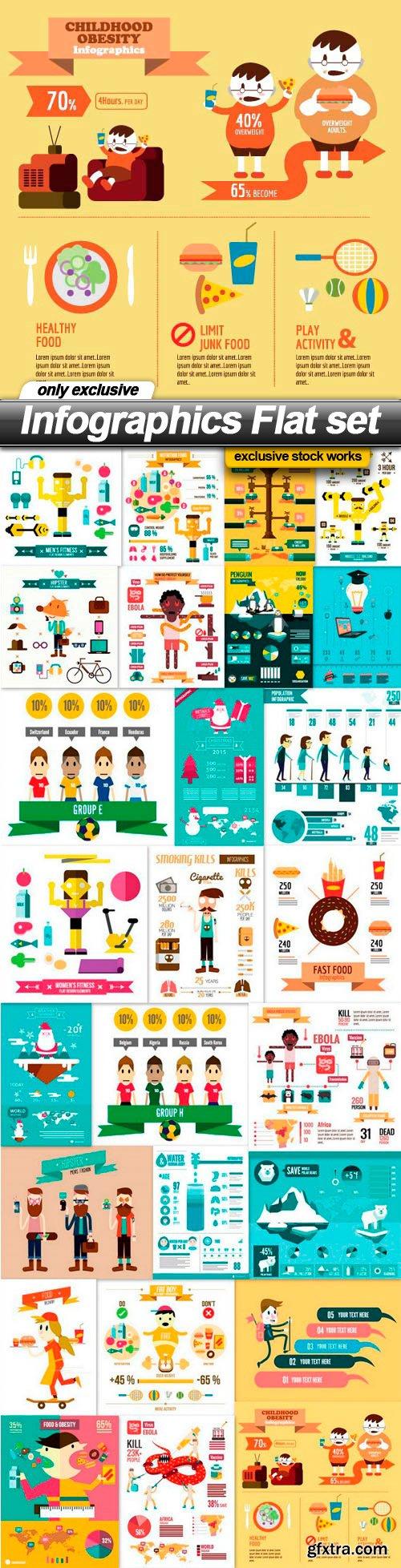 Infographics Flat set - 26 EPS