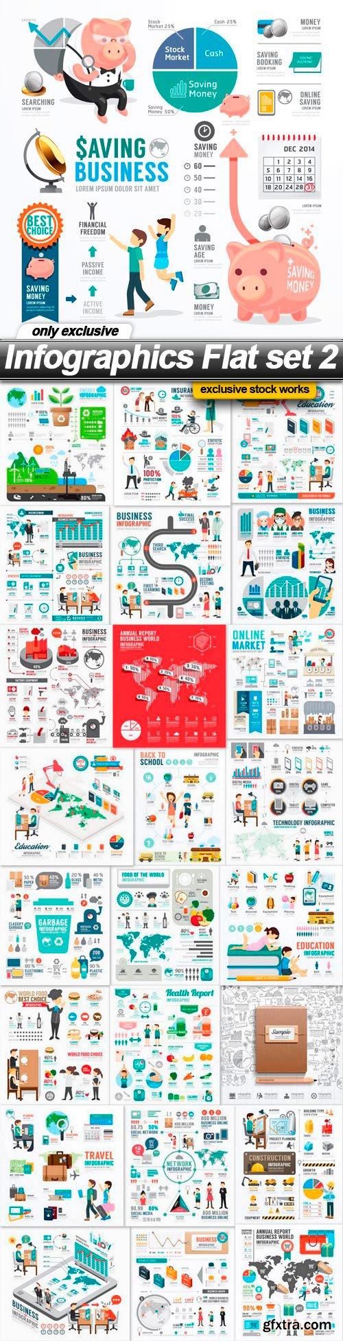 Infographics Flat set 2 - 25 EPS