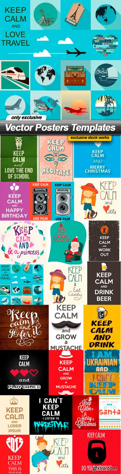 Vector Posters Templates - 25 EPS
