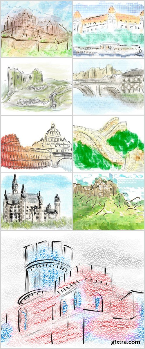 europe city vector illustration 9X EPS
