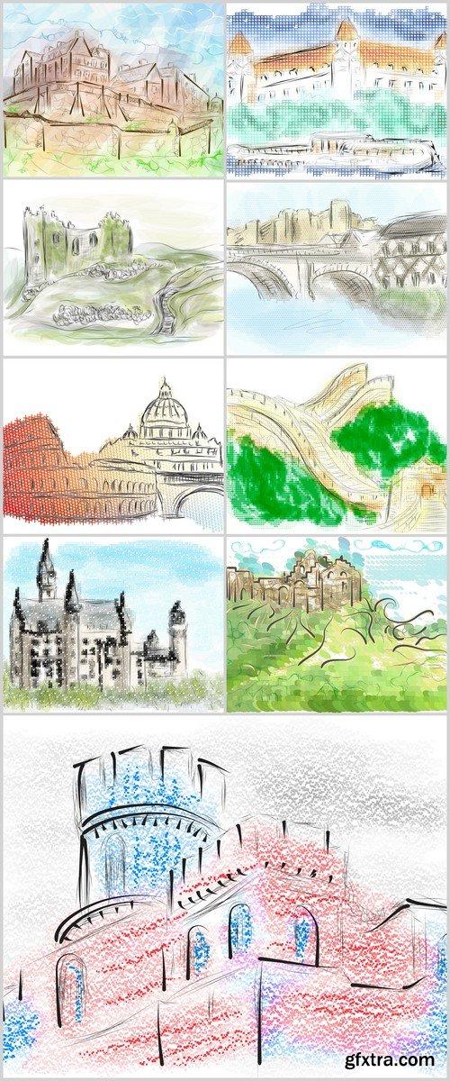 europe city vector illustration 9X EPS