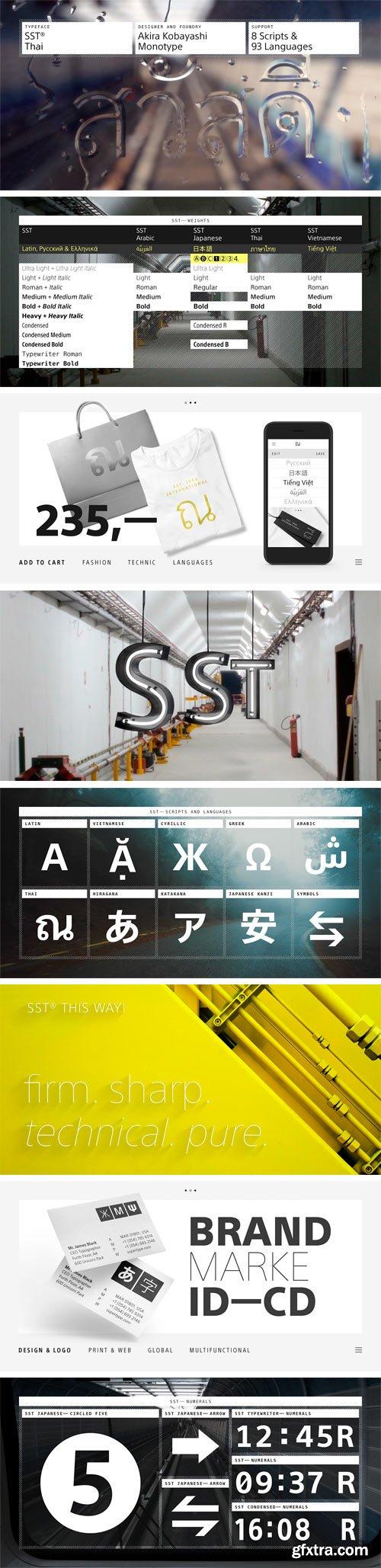SST Thai Font Family