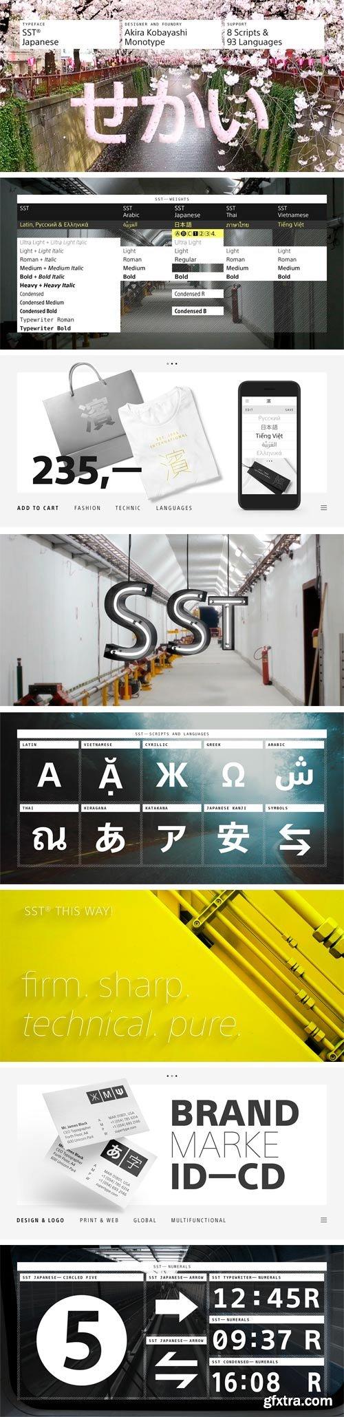 SST Japanese Font Family