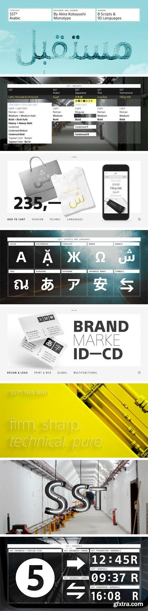 SST Arabic Font Family
