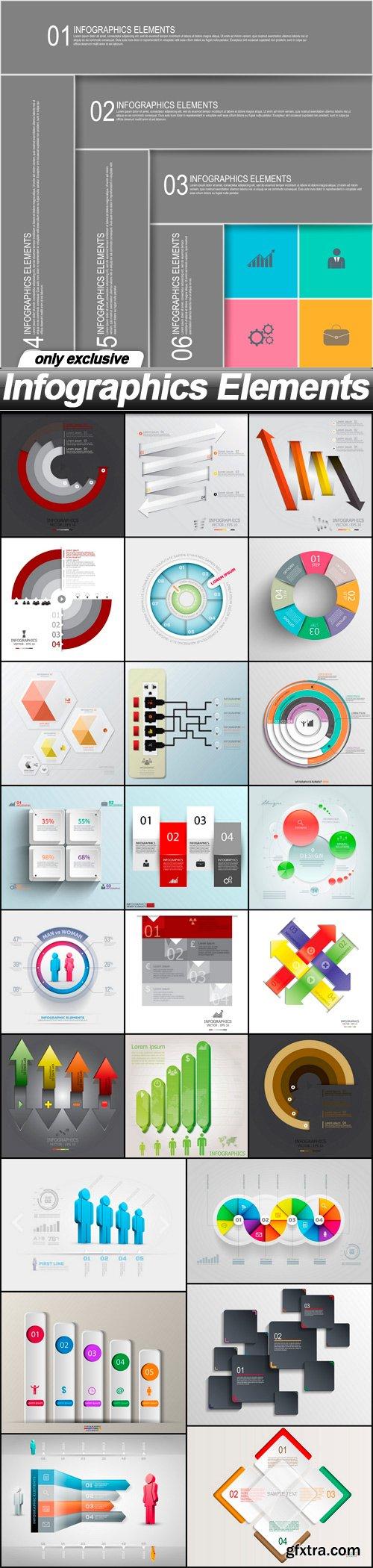 Infographics Elements - 25 EPS