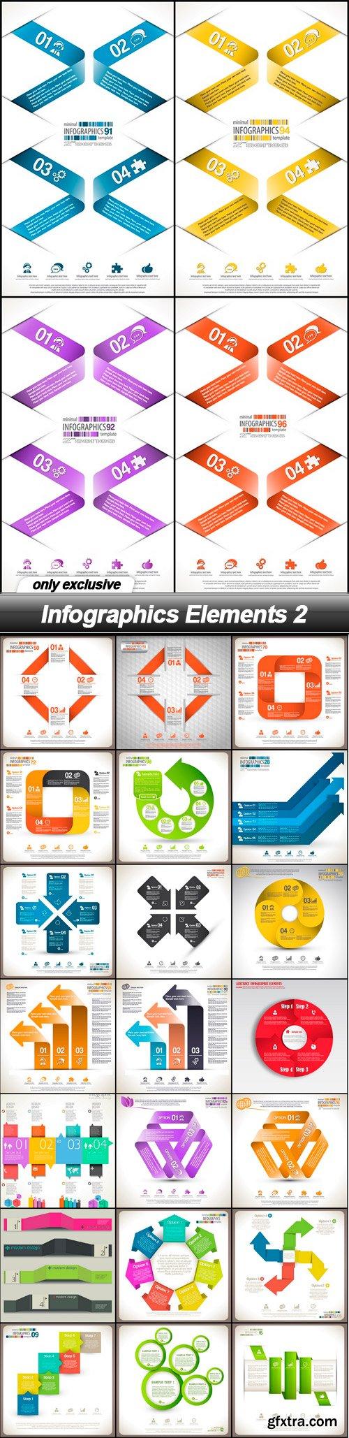 Infographics Elements 2 - 25 EPS