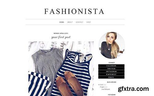 Fashionista Blogger Template - CM 431823