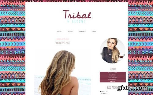 Tribal Blogger Template - CM 431849